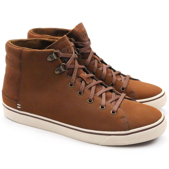 eb3bf1c3db9 UGG Hoyt Chestnut Waterproof Leather Sneakers Boutique